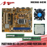 PROMO Paket Mainboard 1155 H61 Ddr3 + Core i5 2400 + Fan + Ddr3 4GB