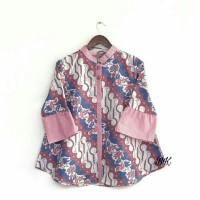 baju atasan batik wanita - blouse batik parang warna