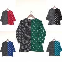 blouse batik wanita - batik blouse kombimasi - baju batik wanita