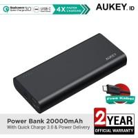 Aukey Powerbank 20000 mAh QC3.0 & Powerbank Delivery - 500388
