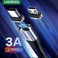 Ugreen Magnetic Kabel 3A Nylon Braided 100cm Kabel Magnet Ugreen 3A