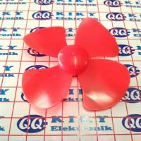 baling baling 8cm merah / toy fan blade 80mm red / propeller 80 mm