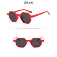 HEXAGON Kacamata Gaya Kekinian Model Segi Enam Warna Warni