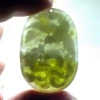 liontin Batu Giok jadeit jade ukir naga Asli ( Kode : 168 )