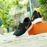 Sepatu Sport Casual Pria Nike Tanjun - Hitam Emas - Santai Pria