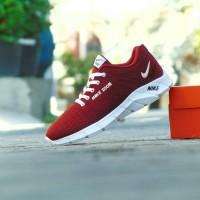 Sepatu Sport Casual Pria Nike Air Zoom - Hitam Abu - Santai