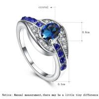Perhiasan Cincin Silver Batu Zircon Biru