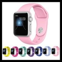 Strap Iwatch Sport Band Apple Watch 4 3 2 Tali Jam 44Mm 40Mm 42Mm 38Mm