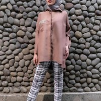 Brown Shirt O-Rama - #Markamarie - Modest Fashion , Busana Muslim