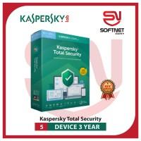 Antivirus Kaspersky Total Security 5 Device 3 Tahun limited stok