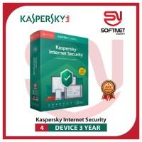 Antivirus Kaspersky Internet Security 2019 4 PC 3 Tahun computer