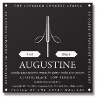 Augustine Classical Guitar String Low Tension Black
