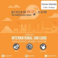 Sim Card Faroe Island Unlimited FUP 6 GB for 15 Days I Simcard Faroe