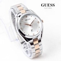 jam tangan GUESS WANITA TANGGAL BALOK RANTAI SILVER ROSEGOLD BLACK