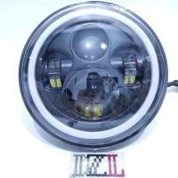 LAMPU DAYMAKER LED 7 INCH 4 MATA LENSA 2 WARNA HIGH LOW 7 INCHI HARLEY