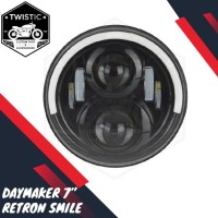 Daymaker 7 inch Smile Retron Lampu LED W175 CB Harley Jeep Benelli