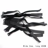 Lipo battery Cable tie down strap velcro black 2cmx45cm