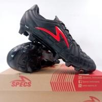 Sepatu Bola Specs Barricada Kaze FG Black Emperor Red 101084 Ori