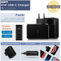ESR Power Delivery PD Charger 41W 1 USB-C 2 USB-A iPhone Samsung