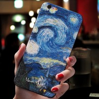 Casing 3D Van Gogh The Starry Night Softcase iPhone X XR XS MAX