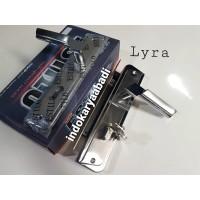 (KOMPLIT) Handle Gagang Pintu BESAR 25 cm + Body kunci set KUALITAS
