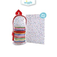 Wigglo Pencil Case Mini Backpack With Book Polkadot