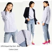 GAP Striped Clip Shirt Blue Brand Murah
