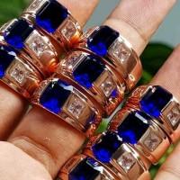 Cincin Pria Silver 925 Batu Zircon Untuk Pernikahan / Cincin Pasangan