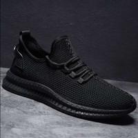 Sepatu Sneakers Kasual Import Pria V991Sepatu Jaring Jogging Dan Kulia - Hitam, 40