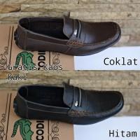 Sepatu mocasin kulit asli crocodile slip on pria formal kerja terbaru