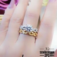 Xuping cincin replika berlian lapis emas 24k 0401d