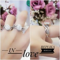 Xuping cincin replika berlian lapis emas 24k 0405d