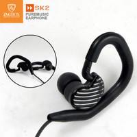 Handsfree ZAGBOX Pure Music (SK-2) super bass over ear sport model - Hitam
