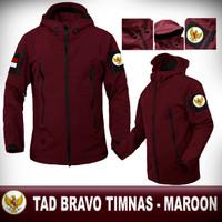 JAKET TAD BRAVO TACTICAL TIMNAS GARUDA MAROON / JAKET MOTOR / GUNUNG