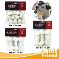 Snack Tulang-Tulangan Gigitan Anjing Knot Bone Rasa Milk