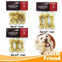 Snack Tulang-Tulangan Gigitan Anjing Knot Bone Rasa Natural