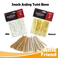 Snack Tulang Gigitan Anjing Twist Bone Stick Rasa Natural dan Milk/Sus