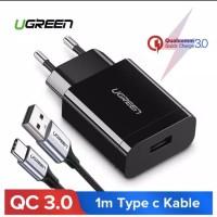 Ugreen Charger Qualcomm QC 3.0 Original Bonus Kabel Type C 100 cm Fast