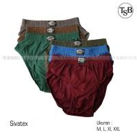 (12pcs) Grosir Celana Dalam Sivatex   CD Pria - M