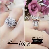 Xuping cincin replika berlian lapis emas 24k 0404d