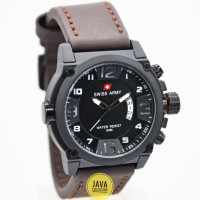 Jam Tangan Pria Swiss Army 7169 Strap Leather
