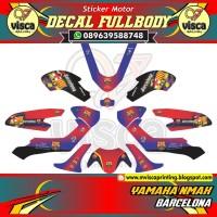 DECAL STIKER MOTOR FULL BODY YAMAHA NMAX BARCELONA