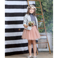 Feather & Flynn Sasha Two-Tone Tutu Skirt in Coral
