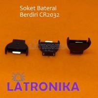 Soket Baterai Berdiri CR2032 Battery Holder Box Tempat Batere RTC