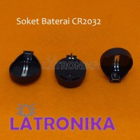 Soket Baterai CR2032 Battery Holder CR2025 Box Tempat Batere Koin RTC