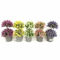 Pot Tanaman Hias Bunga Plastik Murah Dekorasi Rumah Import Tinggi 30cm
