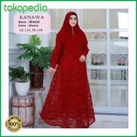BEST SELLER Baju Gamis Wanita Brukat Syari Modern Terbaru . Brokat