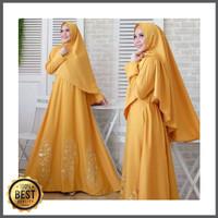 DISKONAN Dress Rosma Syari Bergo Mutiara Baju Muslim Cewek Gamis