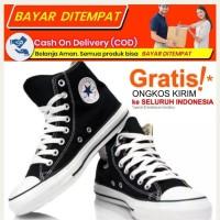 Sepatu Warrior/Converse Sparta High Black White Red / Warrior Allstar