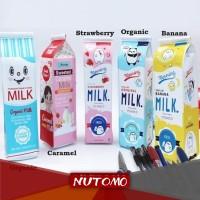 Kotak Pensil Bentuk Kotak Susu / Milk | Tempat Alat Tulis BU0007-KP